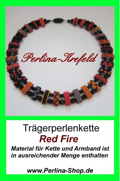 Kit-Trägerperlen Red Fire