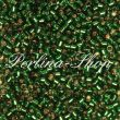 Delica DB0148 silver lined green DB-0148